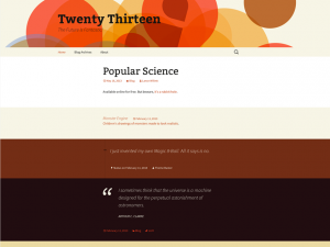 Tema Twenty Thirteen para Personalizar un Blog con WordPress